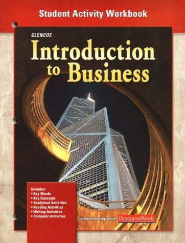 Download Introduction To Business, Student Activity Workbook Chapters 1-35