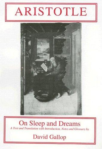 Download Aristotle on sleep and dreams