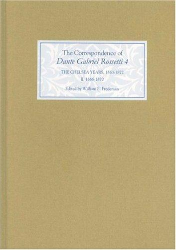 The correspondence of Dante Gabriel Rossetti