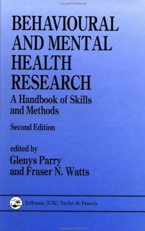 Download Behavioural And Mental Health Research