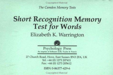 Download Camden Memory Tests