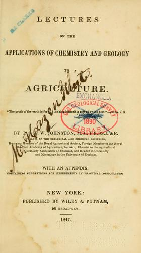 Download Lectures on the applications of chemistry and geology to agriculture …