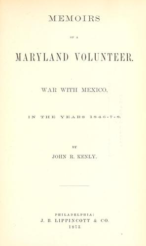 Download Memoirs of a Maryland volunteer.