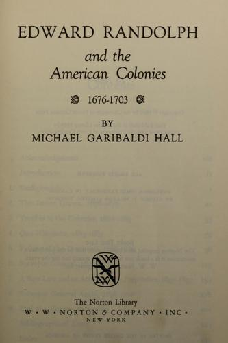 Download Edward Randolph and the American Colonies, 1676-1703.