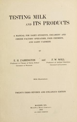 Download Testing milk and its products