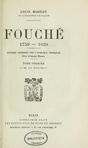 Fouché, 1759-1820.
