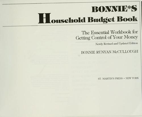 Download Bonnie's household budget book