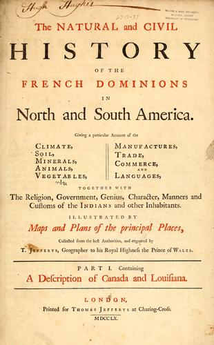 Download The  natural and civil history of the French dominions in North and South America.