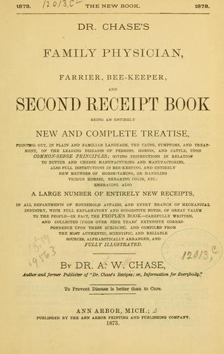 Download Dr. Chase's family physician, farrier, bee-keeper, and second receipt book