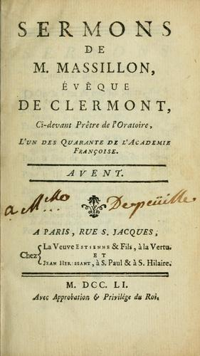 Download Sermons de M. Massillon, évêque de Clermont