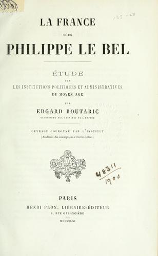 La France sous Philippe le Bel