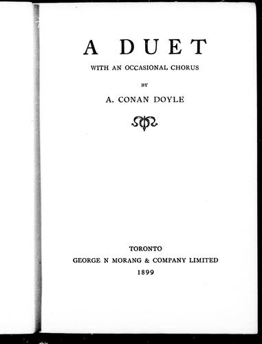 Download A duet with an occasional chorus