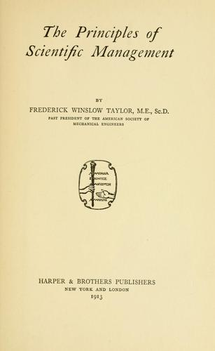 Download The principles of scientific management.