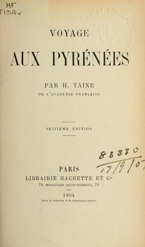 Voyage aux Pyrénées.