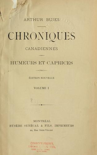 Chroniques canadiennes