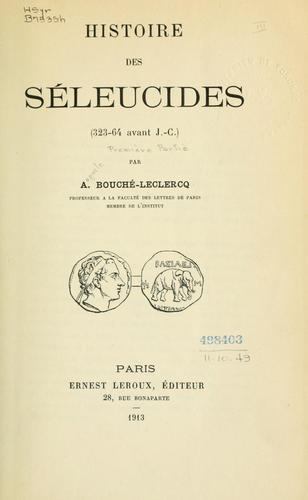 Histoire des Séleucides (323-64 avant J.-C.)
