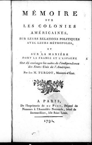 Download Mémoire sur les colonies américaines