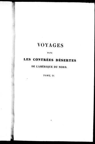 Download Voyages dans les contrées désertes de l'Amérique du Nord