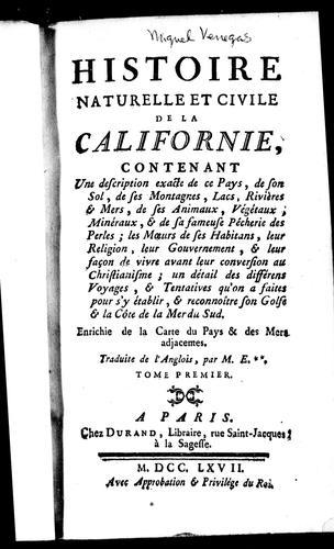 Download Histoire naturelle et civile de la Californie