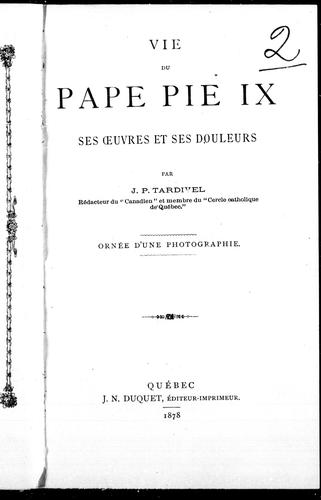 Download Vie du pape Pie IX