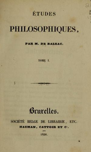 Download Études philosophiques