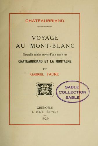 Voyage au Mont-Blanc