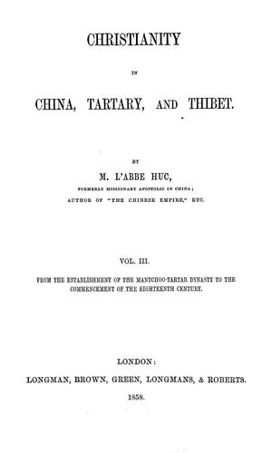 Download Christianity in China, Tartary and Tibet