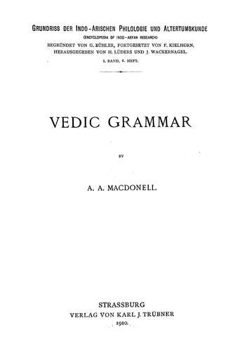 Vedic grammar