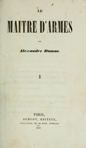 Download Le maître d'armes