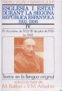 Església i estat durant la Segona República Espanyola, 1931-1936.