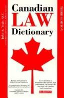 Download Canadian law dictionary