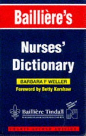 Bailliere's Nurses' Dictionary