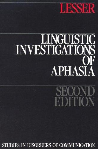 Download Linguistic Investigations Of Aphasia