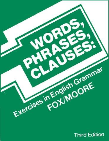 Download Words, Phrases, Clauses