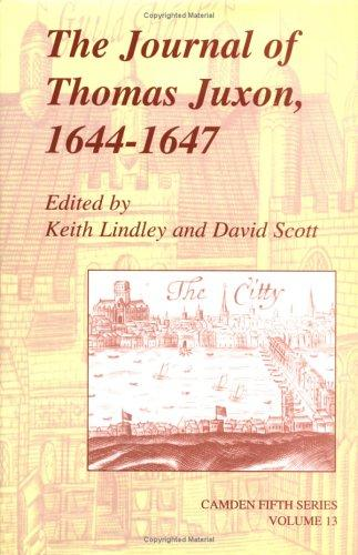 Image for The Journal of Thomas Juxon, 1644-1647 (Camden Fifth Series Volume 13)