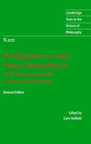 Prolegomena to any future metaphysics that will be able to come forward as science