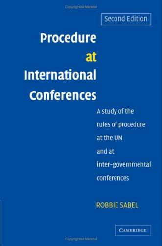 Procedure at international conferences