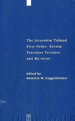 Download The Jerusalem Talmud: First Order