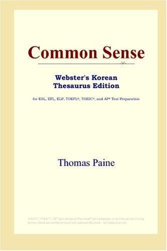 Common Sense (Webster's Korean Thesaurus Edition)