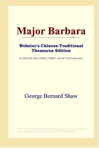 Major Barbara (Webster's Chinese-Traditional Thesaurus Edition)