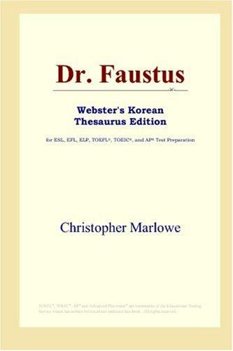 Dr. Faustus (Webster's Korean Thesaurus Edition)