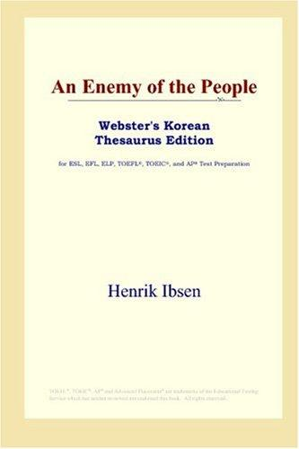 An Enemy of the People (Webster's Korean Thesaurus Edition)