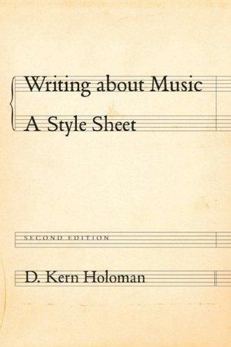 Writing about Music