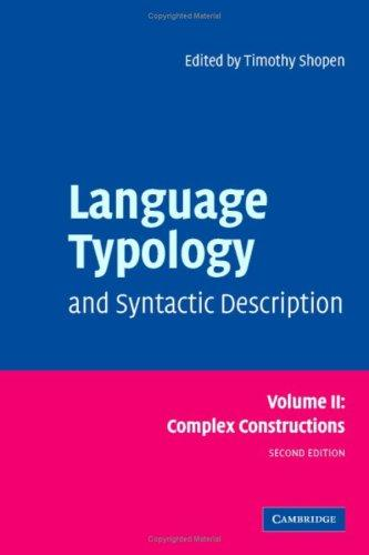 Download Language Typology and Syntactic Description
