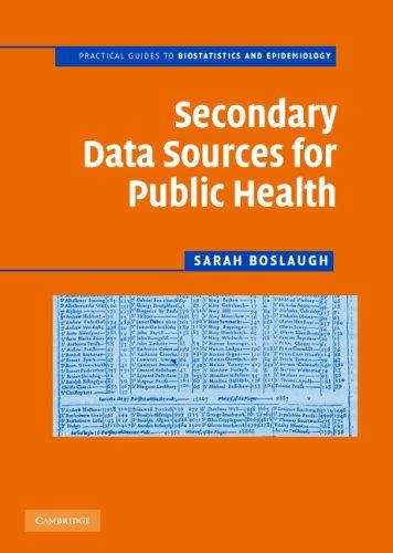 Download Secondary Data Sources for Public Health