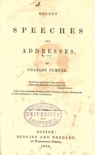 Download Recent speeches and addresses 181-1855