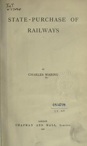 Download State-purchase of railways