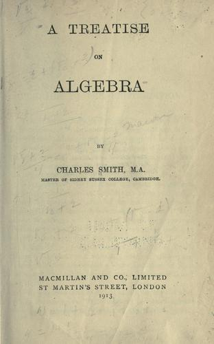 Download A treatise on algebra.
