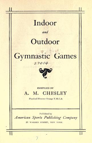 Download Indoor and outdoor gymnastic games.