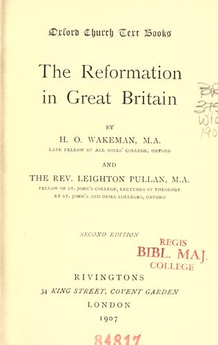 Download The Reformation in Great Britain